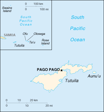[Country map of American Samoa]