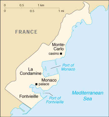 [Country map of Monaco]