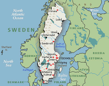 Sweden map google map of sweden greenwich mean time