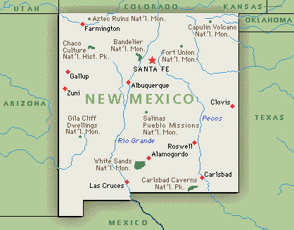New Mexico Map Google New Mexico Map: Google map of New Mexico | GMT